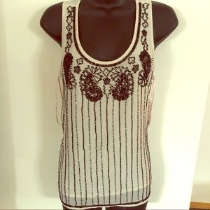 NWT beaded flapper tank blouse